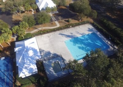 Pool from drone